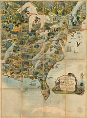 Edward Wallis - Game of the Star-Spangled Banner, Or Emigrants to the United States (1845) (Pau NG) Tags: edwardwallis art maps 1845