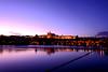 Prague castle (d_poltoradnev) Tags: prague castle river vltava water sky night sunset