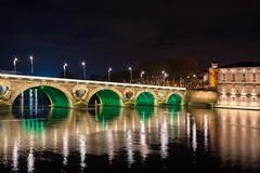 Le Pont-Neuf aux couleurs de la Saint-Patrick (Ant°AM) Tags: toulouse nuit garonne occitanie france fr