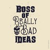 Boss Bad Ideas (Lindsay_Silveira) Tags: graphicdesign typography digital boss bad ideas skull candle thoughts dimwit lightbulb stupid