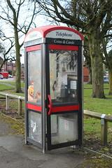 Phone box (daveandlyn1) Tags: phonebox trees graffiti park manchester iii f3556 efs1855mm 1200d eos conon
