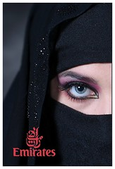 Postcard (posterboy2007) Tags: portrait muslim woman postcard emirates eye niqab