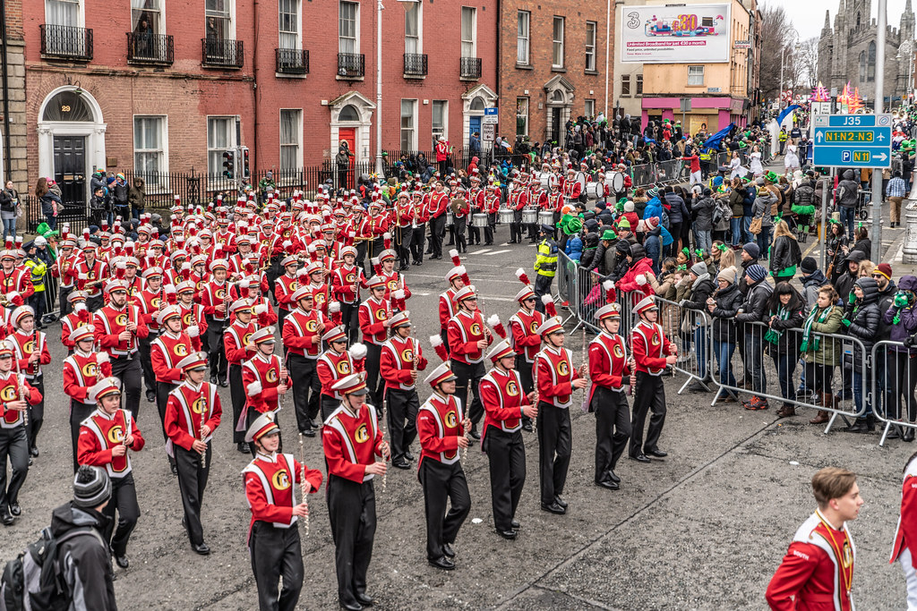 Lakeville South High School Marching Cougars [Dublin Parade March 17 2018]-137674