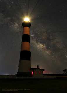 Bodie Lighthouse and Milky Way Center
