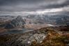 Up there.... (Einir Wyn Leigh) Tags: landscape valley mountains wales cymru snow outside light lake nikon march spring rocks foliage