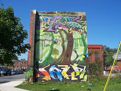 OH Columbus - Mural 86 (scottamus) Tags: columbus ohio franklincounty mural painting building art graffiti