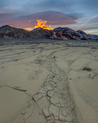 Mud Cracks, Resurfaced (Jeffrey Sullivan) Tags: mud cracks death valley national park badwater salt flats slot canyon landscape nature travel photography furnace creek california usa canon eos 6d photo copyright march 2018 jeff sullivan gnd hdr photomatix sunrise
