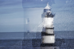 Lighthouse collage (Gill Stafford) Tags: gillstafford gillys image photograph wales northwales anglesey penmon lighthouse collage impressionist