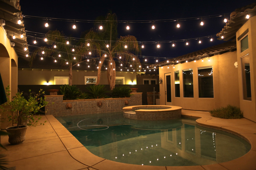 Italian Style Outdoor String Lights Bakersfield (TheLightGuys) Tags:  Outdoor Light Landscape Lighting Bakersfield