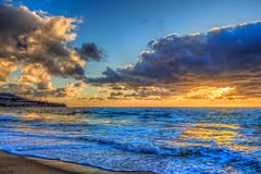 The Beach (Michael F. Nyiri) Tags: redondobeach sunset ocean pacificocean clouds cloudscapes golden blue sea sunsets