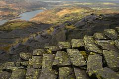 On the edge (PentlandPirate of the North) Tags: slate quarry dinorwic snowdonia dinorwig incline llanberis padarn lichen ~flickrinnes flickrinnes