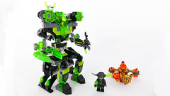 """Colossus - Lego Nexo Knights 72003 Alternate MOC (""""grohl"""") Tags: robot mech mecha colossus earthsiege nexo knights lego 72003 grohl666 alternate moc cmodel creature power suit armour armor human humanoid throne 2018 berserker macy minifigure weapon armament posable action figure"""