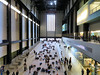 Exhibition Hall, Tate Modern, London, England (duaneschermerhorn) Tags: architecture building structure architect modern contemporary modernarchitecture contemporaryarchitecture art modernart contemporaryart people men women artgoers installation