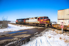 Another Lease Unit! (awstott) Tags: emd c449w 204 canadiannationalrailway prlx cnr sd75m train 2645 cn locomotive alberta electromotivedivision generalelectric ge viking canada ca