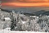 Opposites (TranceVelebit) Tags: hrvatska croatia gorskikotar mrkopalj stari laz dinaricalps dinaridi mediterranean mountain mountains winter winterscape snow snowy forest forests forested hills white orange sunset clouds cloudscape landscape mist cold house village weather seasons