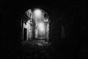 Arco oscuro - Dark arch (Angelo Petrozza) Tags: arco oscuro dark arch blackandwhite biancoenero bw basilicata montescaglioso angelopetrozza pentaxk70 noir fog nebbia rumore