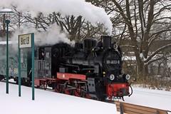 Der Rasende Roland im Bahnhof in Binz (lt_paris) Tags: urlaubinbinz2018 binz rügen rasenderroland schmalspurbahn kleinbahnhof bahnhof dampflokomotive lokomotive winter schnee eisenbahn