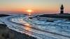 Sunset at Wremer Low (Friedels Foto Freuden) Tags: sunset sonnenuntergang wremertief winter eis kleinerpreuse leuchtturm