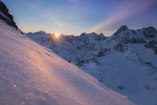 Sunrise in Tatra mountains