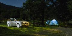 Campamento base (gustavocherullo) Tags: carpa auto campamento bosque naturaleza lagoñorquinco neuquen argentina patagonia largaexposicion nocturna noche