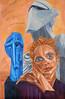 Un'Armonia Metafisica - Artist: Leon 47 ( Leon XLVII ) (leon 47) Tags: armonia metafisica leon 47 xlvii kristen mcmenamy rock drill horse head peter lindbergh jacob epstein henri laurens abstract portrait painting triangolismo triangulism enigma
