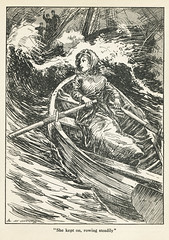 She Kept On (gripspix (OFF)) Tags: altpapier vintage thebritishgirlsannual 1910 jugendbuch mädchen grosbritannien greatbritain
