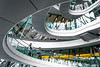Twirly Whirly (DobingDesign) Tags: cityhall londonassembly london england unitedkingdom gb curve arc spiral twirl architecture interiorarchitecture walkway ramp glass people line oval curvy