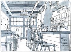 le Legia (gerard michel) Tags: belgium liège café sketch croquis