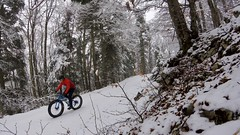 Climbing To The Ski Slope (29in.CH) Tags: winter snow fog fatbike ride 18032018 climb forest