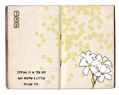 """Spring is in the air (lamarstyle) Tags: lamarstyle lamarstylepblamar 2018 iphone iphone6s digitalphotoartjournal journaling vintage """"vintage paper"""" oldpaper oldpapers vintagepaper digitaljournal digitalartjournal pollen flowers"""