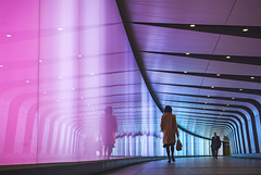 Kings Cross Reflection (danpower123) Tags: kings cross tunnel colourful colour london art artful architecture sony a6000 alpha