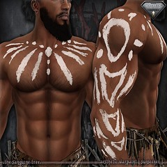 [ new release – aesthetic warpaint [ sunseeker ] ([ sithas ]) Tags: sithasslade thesanguinetree secondlife sl newrelease release aesthetic niramyth applier tattoo tint tintable warpaint war battle warrior roleplay roleplaying rp fantasy paint
