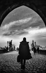 OUR MAN IN PRAGUE (oskarRLS) Tags: prague praga man photography monochrome monocromo street trip bw blackwhite blancoynegro art
