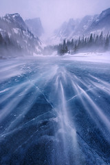 White Dream (circleyq) Tags: mountain rocky colorado winter landscape dream lake national park wind snow storm blow ice frozen freeze
