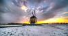 De Grebmolen, Warmenhuizen, The Netherlands. (Alex-de-Haas) Tags: 11mm aurorahdr d750 dutch grebmolen grebpolder hdr holland irix nederland nederlands netherlands nikon noordholland photomatix westfrisia westfriesland art artistic artistiek beautiful betoverend bevroren boerenland cloud clouds cold daglicht daylight desolate farmland fire flat frozen heaven hemel kou kunst landscape landschap licht light lucht mill molen mooi plat polder skies sky sneeuw snow sunrise verlaten vuur water winter wolk wolken wonderful zonsopgang