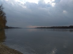 My small village 38 (MoyanSpirit) Tags: danube river sunset cloud stormycloud