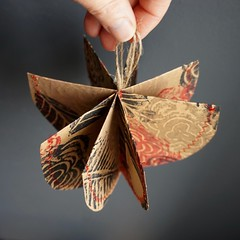 handmade, hand printed paper hanging sculpture (pillboxproductions) Tags: hangingsculpture originalart handprintedpaper papermobile papersculpture americanartist recycledpaper ecofriendlyart imadethis homedecor