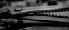 Day 81. (lizzieisdizzy) Tags: blackandwhite blackwhite black bright whiteandblack white whiteblack mirrorimage reflections reflection reflective monochrome mono monotone monochromatic chromatic tabletop utensils sewing scissors scissor shears pinkingshears jaggedblades sharp pointed