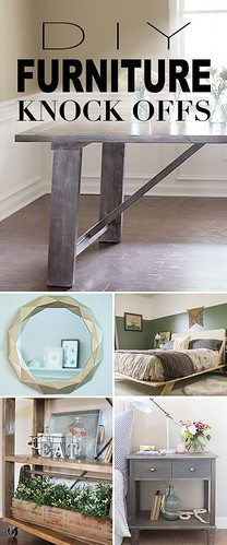 Best Ideas For Diy Crafts : DIY Furniture Knock Offs! • A round-up of some of the best furniture knock-off...