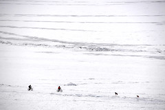 Cycling on Icy lake (MelindaChan ^..^) Tags: siberia russia 俄羅斯 西伯利亞 lake baikal 貝加爾湖 cycling bike chanmelmel mel melinda melindachan bycicle frozen icy snow cold winter 2018 ice people nature life travel pine tree slope alkhon island 奧爾洪島