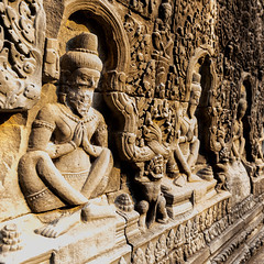 Angkor   |   Preah Khan Carvings (JB_1984) Tags: preahkhan carving temple remains ruins decay stone light shadow bokeh depthoffield dof squareformat templesofangkor khmer siemreap krongsiemreap cambodia cambodge kampuchea nikon d500 nikond500