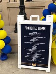 An Interesting Read (Melinda Stuart) Tags: cal berkeley ucb blueandgold prohibition sport crowd safety sign