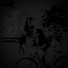 Bike (hannzoll) Tags: black white gray bw bike bicycle street city urban wind composition beautiful simple color art artwork sport sporty emotions wheels cycle woman people riding cycling summer spring ride wheel expressive pop road exciting dream graphic dark moon speed imagination shadow blackandwhite monochrome round circle gallery design collection poster photo vision print artmarket illustration style space digital texture evening creation idea canvasprint secret inspiration star park night man modern contemporary connection casual movement traffic travel digitalart