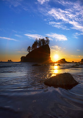 Sunset at Second Beach La Push (Olympic NP, WA) (Sveta Imnadze) Tags: secondbeach lapush wa olympicpeninsula pacificnorthwest