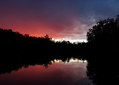 Mill Pond 8 (AAWWSS) Tags: pond lake water nature landscape sky strom silhouette dark