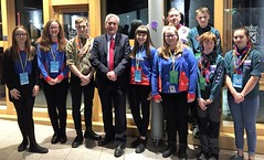 Meeting Haddington guides and scouts at Parliament