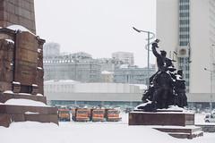 Central square Vladivostok - Владивосток (dataichi) Tags: владивосток vladivostok russia travel tourism destination siberia winter snow cold street urban city sculpture soviet propaganda