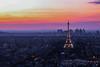 Paris HD-1 (xavierwarnier) Tags: paris ladéfense poselongue toureiffel nuit sunset