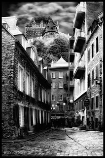 Below the Chateau in Monochrome