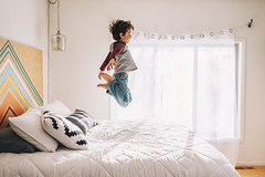 Boinnnggg (Elizabeth Sallee Bauer) Tags: 5yearold active bed bedroom boy child childhood children family fun indoors interior jumping kid lifestyle playing youth